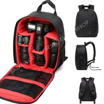 Camera Backpack Bag Waterproof กระเป๋าเป้สะพายหลังสำหรับใส่กล้อง กันน้ำ กระเป๋ากล้อง DSLR Case for Canon/Nikon/Sony
