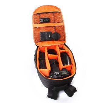 Camera Backpack Bag Waterproof DSLR Case for Canon/Nikon/Sony(Orange)