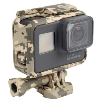 Camouflage Protective Frame Mount Stand Case Side Open Housing Shell Cover For Go Pr o HERO 6/HERO 5 Action Camera Accessories - intl