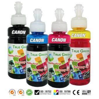 หมึกพิมพ์ CANON 100ml. เกรด A เติมได้ทุกรุ่น : B/C/M/Y (หมึกเติม\nCanon 4 ขวด)