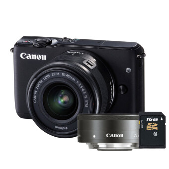 Canon EOS M10 kit 15-45mm+22mm (Black) ประกันศูนย์ + SD C10 16GB