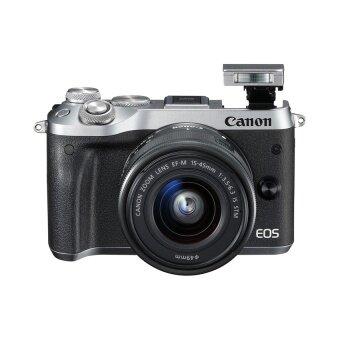 CANON กล้องดิจิตอล รุ่น EOS M6 + LENS EF-M15-45 สีเงิน(ประกันศูนย์)