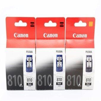 ประเทศไทย Canon ตลับหมึกอิงค์เจ็ท รุ่น PG-810BK 3 ตลับ (สีดำ) ของแท้ ใช้กับเครื่อง CANON รุ่น MP237/ip2770/MX347/MX357/MX328/MP287/MP497/MP366/ MX416/MX426/MP245/MP486/MX338/MP496/MP258