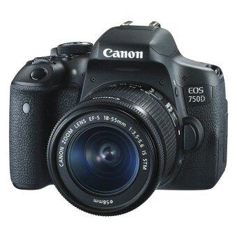 Canon SLR EOS 750D with 18 - 55 mm IS Lens – Black