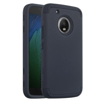 Case For Motorola Moto G5 Plus Soft Silicone + PC Hybrid Back Case Cover (Black) - intl