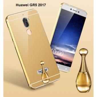 Case Huawei GR5 2017 เคสกระจก พร้อมส่งเคสหัวเว่ย GR5 2017 New Bumper Mirror Case 2 in 1 Gold 18k 24k Aluminium Mirorขอบอลูมิเนียม ใหม่