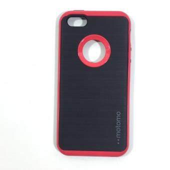 เคสไอโฟน Case iPhone 5 / 5s / SE ( วัสดุพื้น TPU แบบโชว์โลโก้สีดำขอบแดง ) เป็นเคสป้องกันเครื่องได้ดีมาก case for Apple iPhone 5/ 5s / SE(Red) - 3