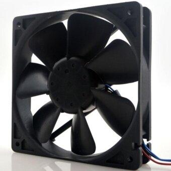 พัดลมระบายความร้อน CASE PC FAN CASE PC 12cmX12cm (4.5'') black