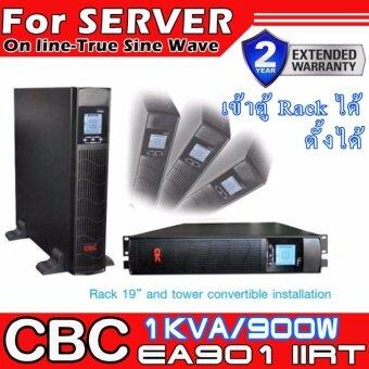 CBC เครื่องสำรองไฟฟ้า (UPS)รุ่น Online UPS EA900IIRT 1KVA 900Wสำหรับ Server