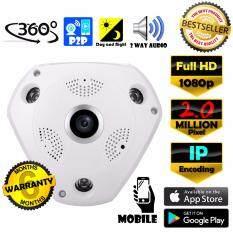 CCTV VR CAM กล้องวงจรปิด IP Full HD 1080p 2.0 MP ล้านพิกเซล IP กล้อง 1080p เลนส์ 360° + ฟรีอะแดปเตอร์