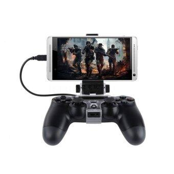 Cell Mobile Phone Smart Clip Clamp Holder Gamepad Plastic Stand forPS4 Game Controller Only for Android - intl