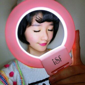 CHARM EYES Smartphone LED Ring Selfie Light Enhancing PhotographyClip-on (Pink) - Intl
