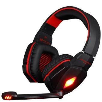 ชุดหูฟังสำหรับเล่นเกม G4000 Pro หูฟังสเตอริโอ 2.2M (สีดำแดง)- intl