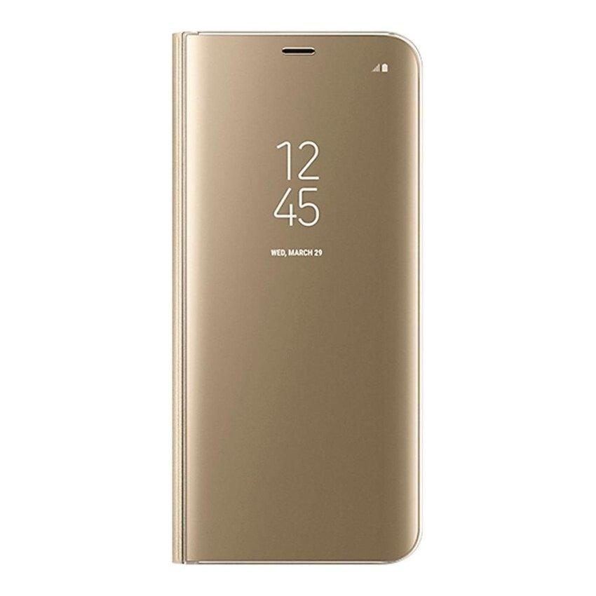 รายละเอียดของสินค้า Clear View Flip Stand Case Cover For Samsung Galaxy S8 Plus Gold – intl