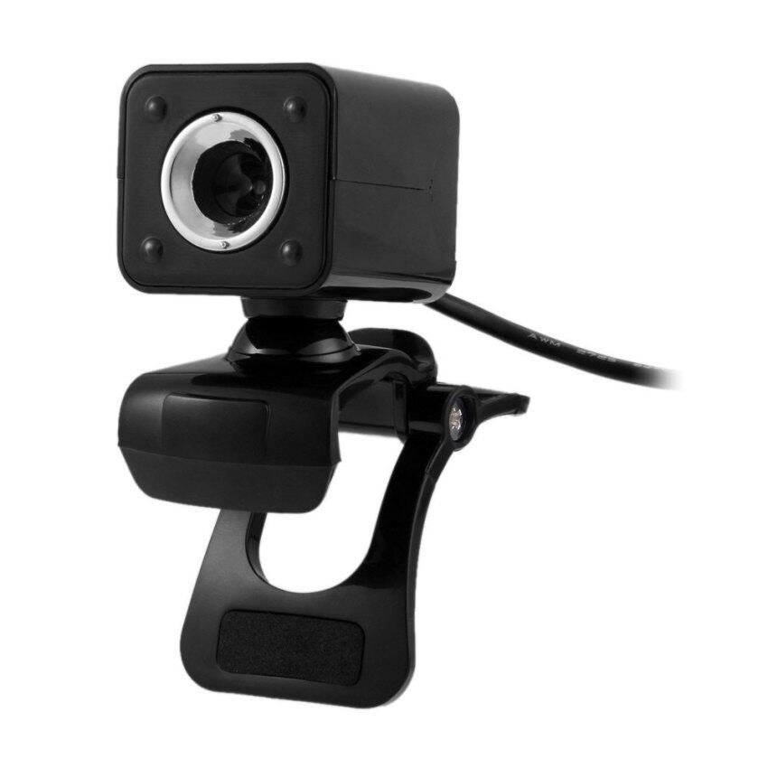 Clip-on HD Webcam 360 Degree Rotatable Web PC Camera with Night Version for PC Laptop BLACK (Intl)
