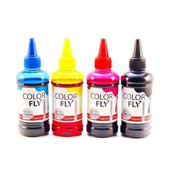 ColorFly หมึกเติม canon เกรดA ครบทุกสี 100ml.*4ขวด