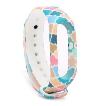 Colourful Replacement Wristband Strap for Xiaomi Mi Band 2/Miband 2Band Smart Bracelet Accessoriesวงดนตรี Mi Band 2แถบสายรัดข้อมือโลหะสำหรับ Xiaomi Mi Band 2 Smart Mi Band 2สายรัดข้อมือ Pulseira Wrist Strap - intl