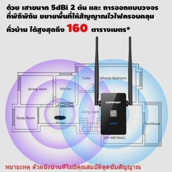 Comfast อุปกรณ์ขยายสัญญาณไวไฟ 2 คลื่นความถี่ (2 และ 5GHz) มาตราฐาน 11AC (750Mbps) (image 3)