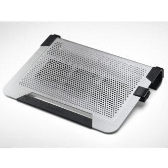 Cooler Master : NOTEPAL U3 PLUSMovable Fan Aluminum Cooling Pad -Silver