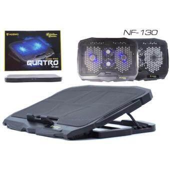 Cooler Pad NUBWO NF-130 QUATRO 4 ใบพัด + USB 2 Ports Compatibility14-17 Laptop