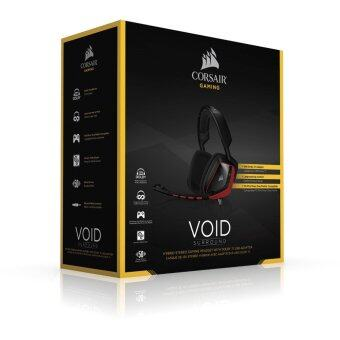 2561 Corsair VOID Surround Hybrid Stereo Gaming Headset with Dolby 7.1 USB Adapter RED
