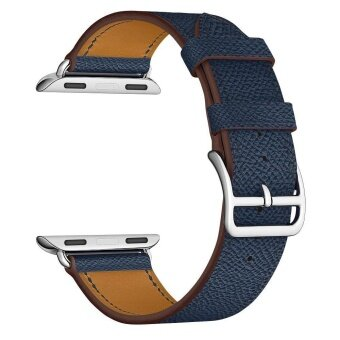 Cowhide Leather WatchBand Single Loop Strap for iWatch 42mm Series 3/2/1