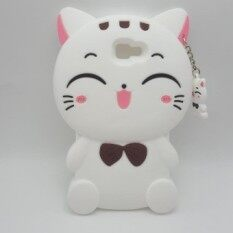 THB 269. Cute 3D Cartoon Kawaii Bow Tie Cat Soft Silicone Case for Samsung Galaxy Grand Prime( ...