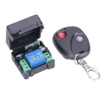DC12V 10A 1CH Wireless Remote Control Switch Transmitter withReceiver(Black)-433MHz - intl
