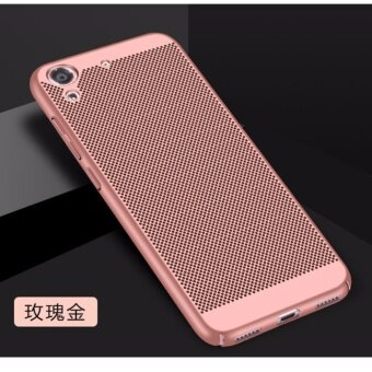 Dotted Breathable Ultra-thin PC phone case for Huawei Honor 5A / Y6II(Rose