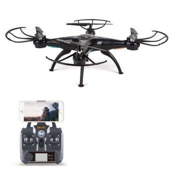โดรนบังคับ โดรนติดกล้อง Drone 2.4G VENTURE Wifi FPVดูภาพสดผ่านมือถือ กล้องชัด 2 ล้าน Pixel (สีดำ)