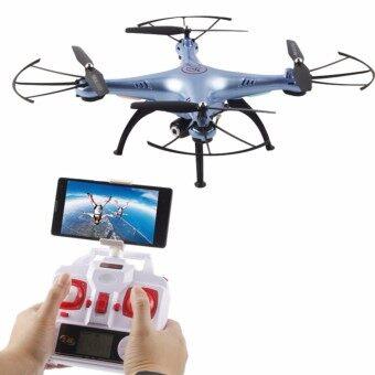 Drone โดรนบังคับ โดรนติดกล้อง Syma รุ่น X5-HW(New 2017) ล็อคความสูงได้ กล้องถ่ายวีดีโอ ภาพนิ่ง ภาพคมชัดระดับ HD Hover Function + FPV WIFI Camera(สีขาวหรือบรอนซ์ฟ้า)