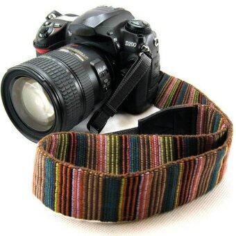 รัดคอรัดแฟชั่นกล้องสำหรับ DSLR Canon Nikon Sony Pentax (หลายสี)-