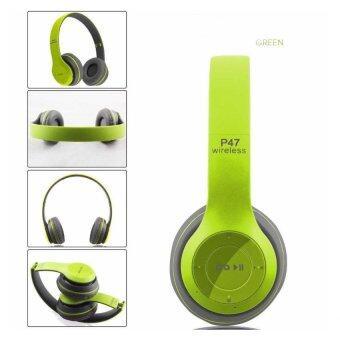 DT หูฟังบลูทูธแบบครอบหู รุ่น P47 Wireless (สีเขียวเทา)
