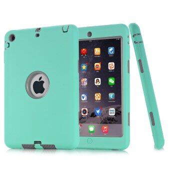 Harga Dual Layer Defender Drop Proof Silicone Protective Case for iPad2/3/4 (Mint Green) - Intl