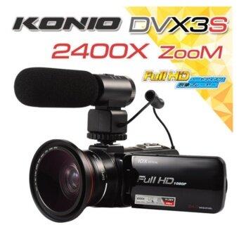 กล้องวีดีโอ DV-X3s ความละเอียด 24MP ต่อไมค์ได้ซูมไกลสุด 1200X