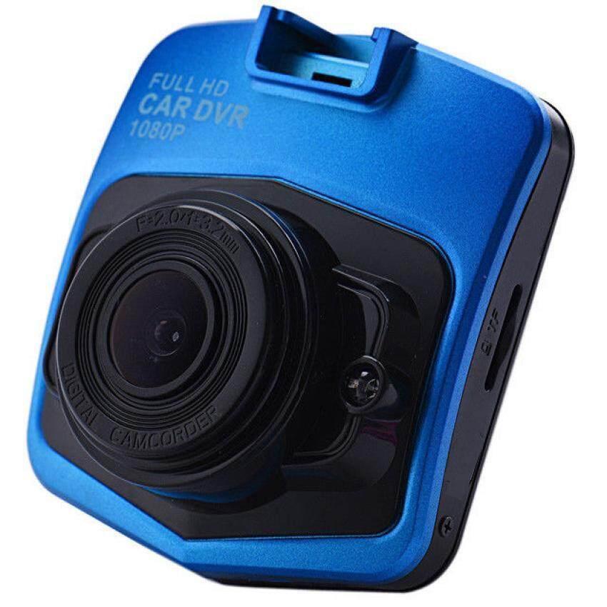 รถมินิแบบฝากล้องบันทึก DVR 1080P 2.4นิ้ว lcd ไม่มองในที่มืด G-sensor กล้องวิดีโอ Registrator ประสี (สีน้ำเงิน)