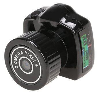 กล้องเล็กที่สุดในโลกไซเบอร์กล้องถ่ายวิดีโอเทปวีดีโอมินิ DVRเท่ารูเข็มอยู่เว็บแคม 2มกาพิกเซล (สีดำ)