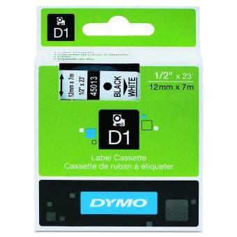 DYMO : DYM45013* เทปพิมพ์อักษรสีดำพื้นขาว Label Standard Labeling Tape Black print on White tape