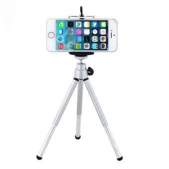 E-CHEN ขาตั้งกล้อง 3 ขา สำหรับมือถือ และกล้องดิจิตอลขนาดเล็ก(สีเงิน)