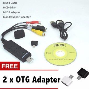 Easycap USB Video Capture Adapter TV DVD VHS Captura for ComputerTV Camera USB 2.0 Easiercap DC60 UTV007 support Android phone -intl