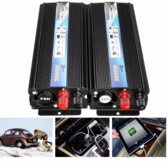 Efficient 2000W Car Vehicle DC 24V To AC 220V Modified Sine WavePower Inverter - intl