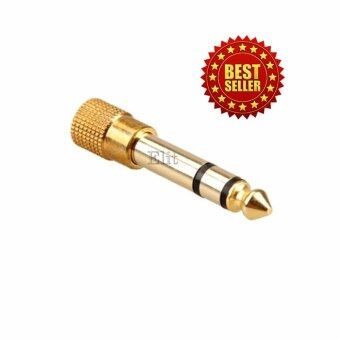 Elit Jack Converter Adapter 3.5mm to 6.35mm แจ็คอะแดปเตอร์แปลง(Gold) (image 0)