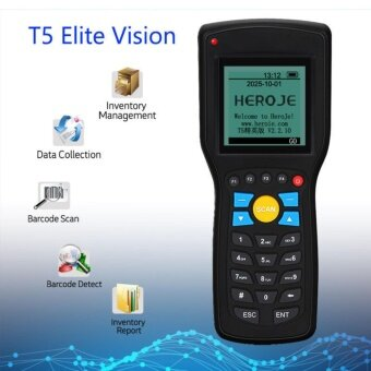Elite Wireless Barcode Terminal 1D Inventory Data Collector Scanner For Retail - intl