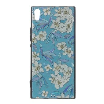 Embossed Pattern Soft TPU Back Case for Sony Xperia XA1 Ultra - Flowers and Leaves Pattern - intl