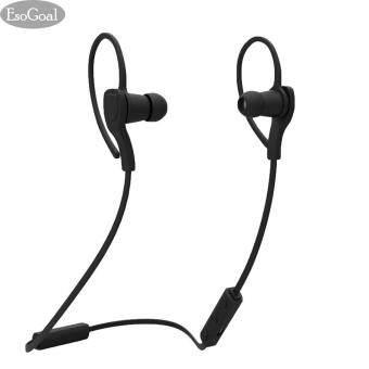 EsoGoal (สีดำ) หูฟังบลูทูธ Earbud เวอร์ชั่น 4.1 พร้อมไมโครโฟน หูฟังอินเอียร์ รุ่น สำหรับ ...
