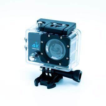 extreme actioncam กล้องกันน้ำ 4k 30fps 16M wifi หน้าจอ 2\ เคสกันน้ำ สีดำ ใหม่!เพิ่ม LED Flash