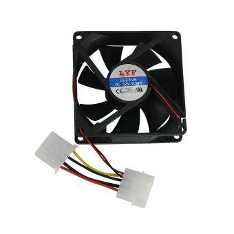 พัดลมระบายความร้อน Fan Case พัดลม 8CM สีดำ