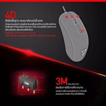 Fantech Gaming Mouse เมาส์เกมมิ่ง ออฟติคอล ความแม่นยำสูงปรับ DPI 800-1200-1600-2400 เหมาะกับเกม FPS รุ่น - G10 (สีดำ) / ฟรี Fantech แผ่นรองเมาส์แบบสปีด ขนาด 25x21cm รุ่น - MP25 (สีดำ/แดง) (image 3)