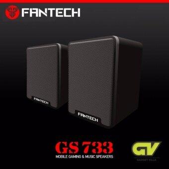 FANTECH Gaming Speaker Stereo ลำโพงเกมมิ่ง สเตริโอ 2.1 360 Surround Bass Membrane พร้อมสายปรับระดับเสียง รุ่น GS733 (สีดำ)