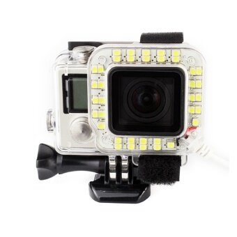 Harga Fill Light Mount for Gopro Hero 4 3+ Ring Flash Light LED FillLight + Housing USB Cable Lens Shooting Night - intl